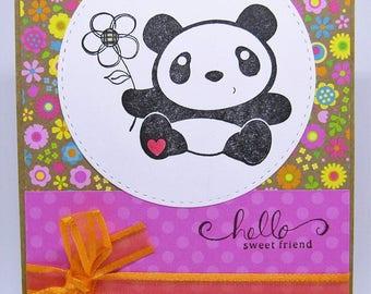 Hello Sweet Friend- Panda