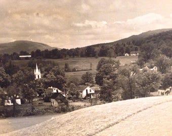 Vintage Landscape Hillside Scene 1941