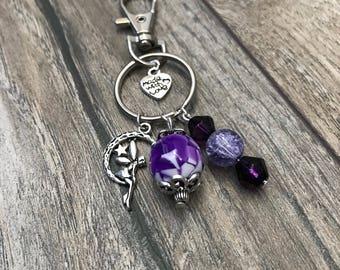Purple Handmade Keycharm