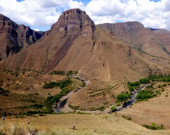 Canvas: Lesotho Mountains, Africa, Photography