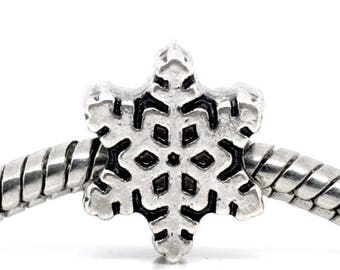 1 Pearl star snowflake snow 12 * 10 mm p/bracelet charms
