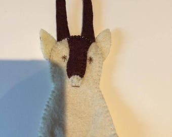 felt finger puppet animals gazelle