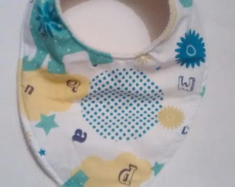 Born new bandana bib Terry cotton and organic cotton
