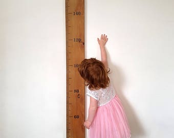 Plain Or Personalised Wooden Ruler Height Chart In Reclaimed Rimu
