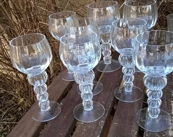 347) set of 6 large glasses of table