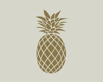 Pineapple (ref 198) adhesive vinyl stencil