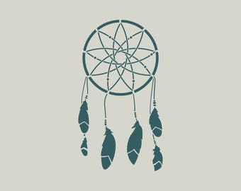 Dream catcher stencil. Adhesive vinyl stencil. Dream catcher. (ref 509)