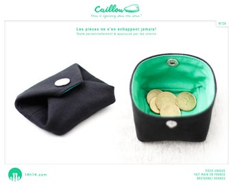 """Wallet """"Stone/29"""", black and Green Apple"""