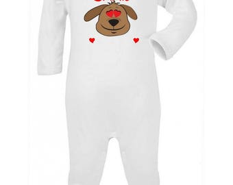 Pajamas baby dog personalized with name