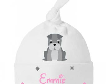 Baby bow personalized with name dog baby Hat