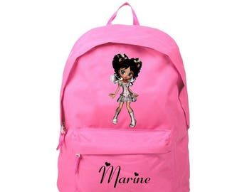 Backpack pink teen personalized with name