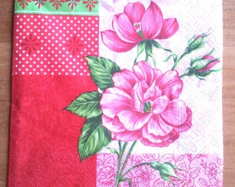 Pack of 20 flower paper napkins