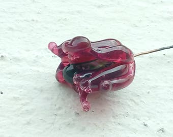 Ruby rose - a glass Lampwork flower