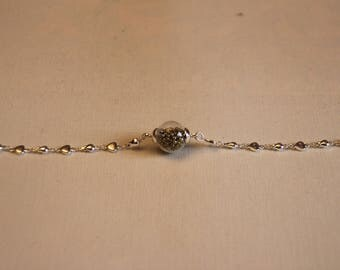 Bracelet ball micro silver and gold beads