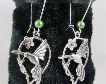 "Earrings ""Bird trying to Peck"""