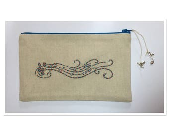 EMBROIDERED COLORFUL MUSICAL STAFF KIT