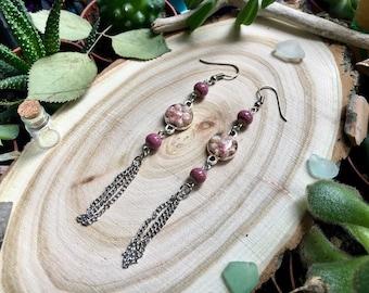 Rose ethnic earrings