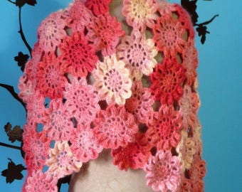 beautiful Japanese shawl with flowers