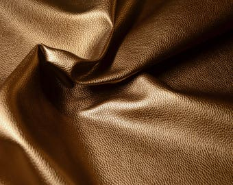 Iridescent bronze leatherette fabric