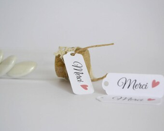 20 tags - gift guests - thank you homemade gourmet gift-
