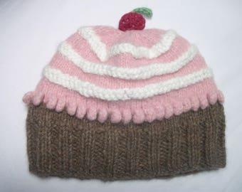 "Hat ""cupcake"" baby girl 12-18 months"