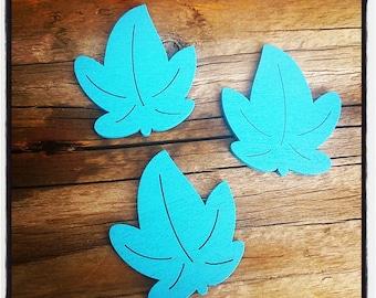 set of 3 sheets wooden blue 30mm x 35mm