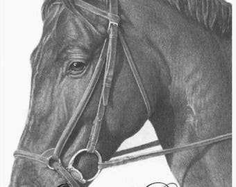 100% hand made black pencil drawing from picture