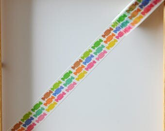 "Masking tape - pattern ""Candies"" - 1.5 cm x 10 m"
