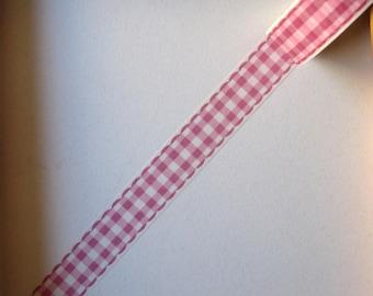 """Masking tape - """"GINGHAM ROSE"""" pattern - 1.5cms x 10 m"""