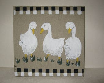 Free shipping! Picture three geese