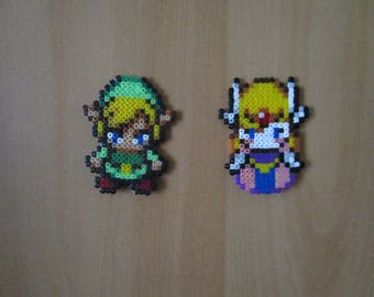 Pixel Art/beading - {The Legend of Zelda} - Link & Zelda