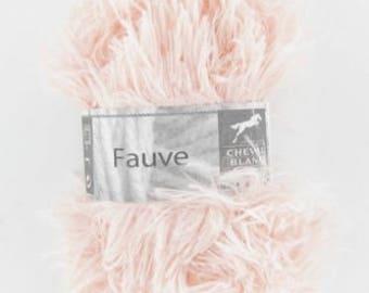 Wool knitting fur Tan flesh color No. 164 white horse