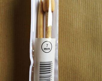 Needles N ° 7 bamboo 35CM