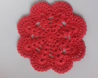 salmon crochet doily