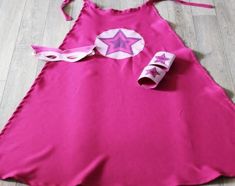 Star pattern pink superhero costume