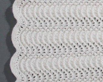 White wool baby blanket