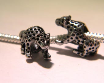 stainless steel - leopard - 17.5 mm - D51 pandor@-style European charm bead