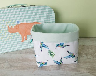 Storage for diapers - hummingbirds pattern basket