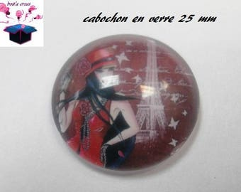 1 cabochon clear 25 mm 30 year theme