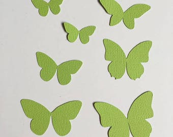 36 cuts paper - Lime Green Butterfly