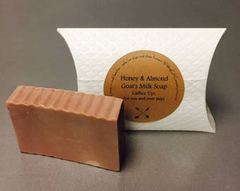 Goat's Milk Soap // Honey + Almond // Lather Up! Soap for you and your pup