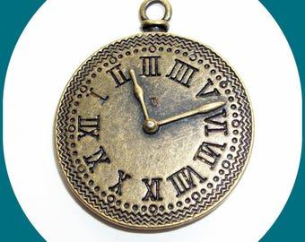 Pendant shape bronze dial clock 3 cm