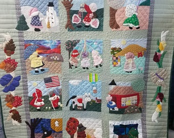 Sunbonnet Sue throughout the year