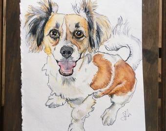 9x12in Custom Pet Portrait Watercolor
