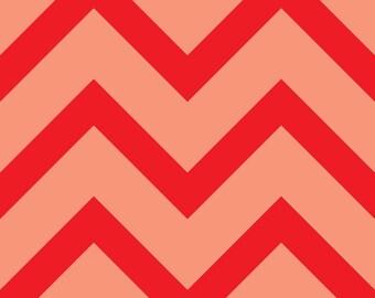 Pink chevron print fabric
