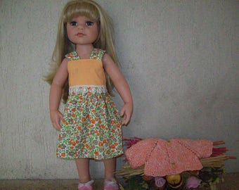 dress and vest for 50 cm dolls, Gotz fits Hannah