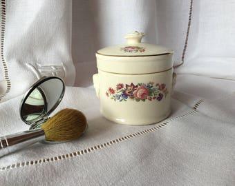 Beautiful old stampted pot for foie gras, 1920 - 1950 Sarreguemines, Vintage France