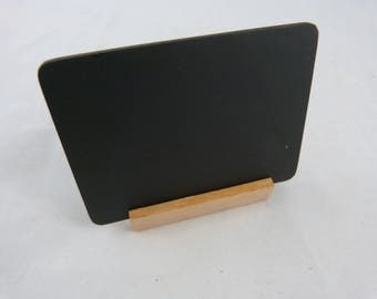 Wood slate bobs with support