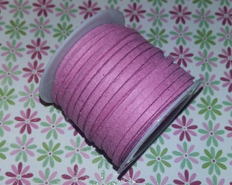 1 meter of n34 3x1.5mm pink suede cord