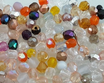 x 50 genuine 4mm Czech faceted beads